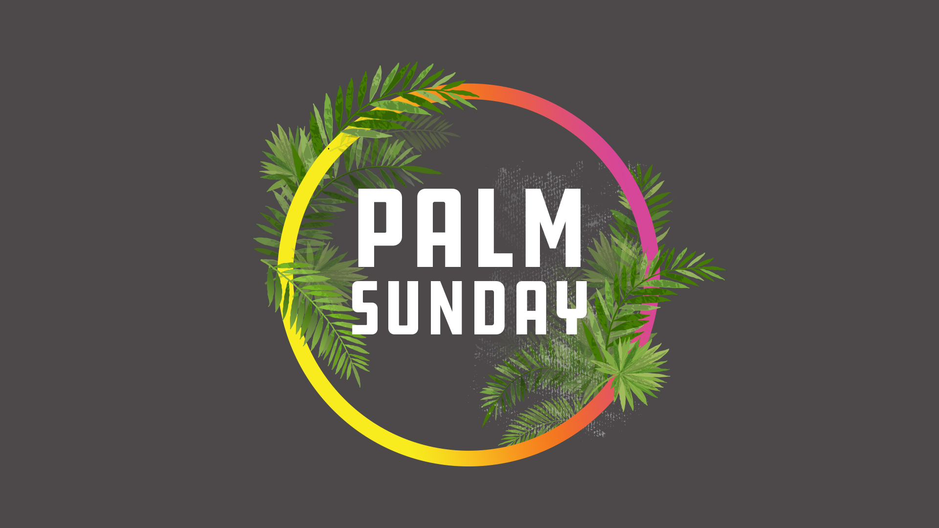 Palm Sunday 2019